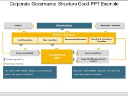 Corporate Governance Structure Good Ppt Example
