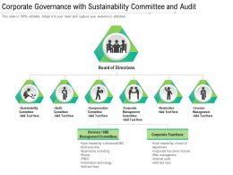 Corporate Governance With Sustainability Committee And Audit