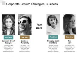 Corporate Growth Strategies Business Complexity Managing Mobile Workforce Cpb