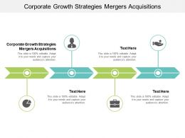 Corporate Growth Strategies Mergers Acquisitions Ppt Powerpoint Presentation Infographics Design Inspiration Cpb