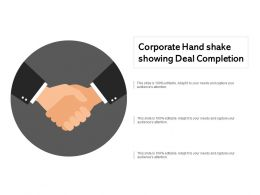 Corporate Hand Shake Showing Deal Completion