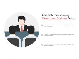 Corporate Icon Showing Meeting And Business Person