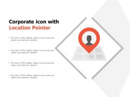 Corporate Icon With Location Pointer