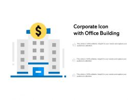 Corporate Icon With Office Building