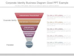 Corporate Identity Business Diagram Good Ppt Example