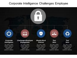 Corporate Intelligence Challenges Employee Engagement Weekly Work Planner Cpb