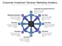 Corporate Investment Services Marketing Analytics Compliance Risk Management Cpb