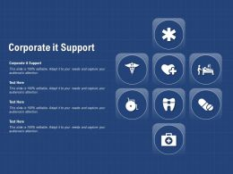 Corporate It Support Ppt Powerpoint Presentation Outline Demonstration