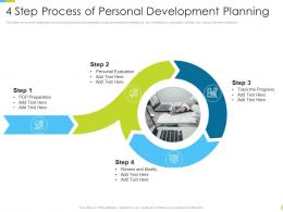 Corporate Journey 4 Step Process Of Personal Development Planning Ppt Powerpoint Skills