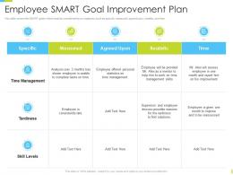 Corporate Journey Employee Smart Goal Improvement Plan Ppt Powerpoint Designs