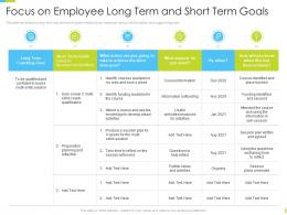 Corporate Journey Focus On Employee Long Term And Short Term Goals Ppt Inspiration