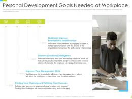 Corporate Journey Personal Development Goals Needed At Workplace Ppt Graphics Download