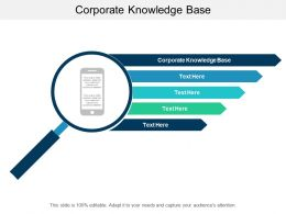 Corporate Knowledge Base Ppt Powerpoint Presentation Slides Infographics Cpb
