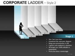 Corporate Ladder 2 Powerpoint Presentation Slides db