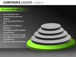 Corporate Ladder 3 Powerpoint Presentation Slides db
