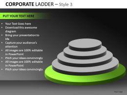 Corporate Ladder 3 Powerpoint Presentation Slides db