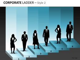 Corporate Ladder Diagram For Business
