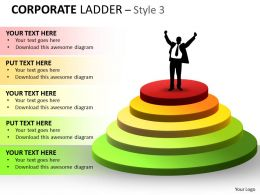 Corporate Ladder Style With 5 Stages