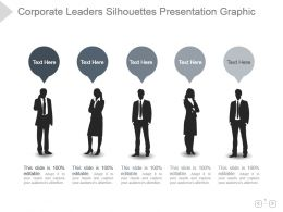 Corporate Leaders Silhouettes Presentation Graphic