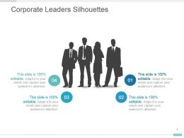 Corporate Leaders Silhouettes Presentation Slide Layout