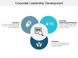 Corporate Leadership Development Ppt Powerpoint Presentation Slides Brochure Cpb