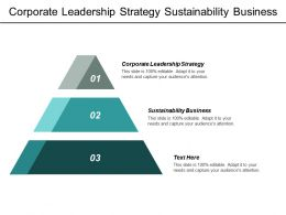Corporate Leadership Strategy Sustainability Business Tactical Marketing Plan Template Cpb