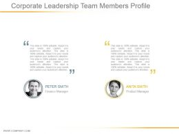 Corporate Leadership Team Members Profile Powerpoint Ideas