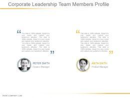 Corporate Leadership Team Members Profile Powerpoint Ideas
