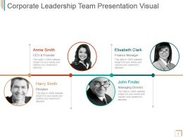 Corporate Leadership Team Presentation Visual