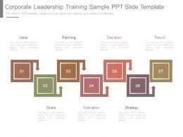 Corporate Leadership Training Sample Ppt Slide Template
