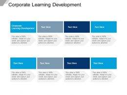 Corporate Learning Development Ppt Powerpoint Presentation Icon Slide Download Cpb