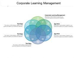 Corporate Learning Management Ppt Powerpoint Presentation Portfolio Brochure Cpb