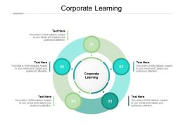 Corporate Learning Ppt Powerpoint Presentation Infographics Clipart Cpb