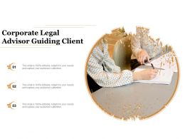 Corporate Legal Advisor Guiding Client