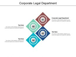 Corporate Legal Department Ppt Powerpoint Presentation Pictures Designs Download Cpb