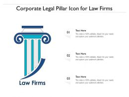 Corporate Legal Pillar Icon For Law Firms
