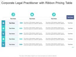 Corporate Legal Practitioner With Ribbon Pricing Table Infographic Template