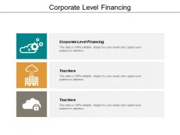 Corporate Level Financing Ppt Powerpoint Presentation Gallery Good Cpb