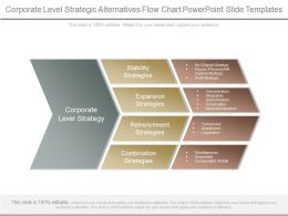 Corporate Level Strategic Alternatives Flow Chart Powerpoint Slide Templates