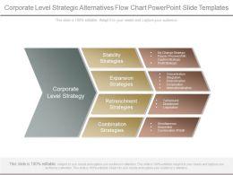 Corporate Level Strategic Alternatives Flow Chart Powerpoint Slide Templates