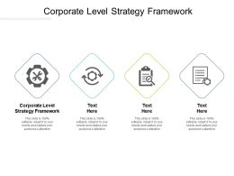Corporate Level Strategy Framework Ppt Powerpoint Presentation Layouts Influencers Cpb