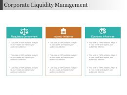 Corporate Liquidity Management Sample Ppt Files