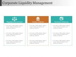 Corporate Liquidity Management Sample Ppt Files