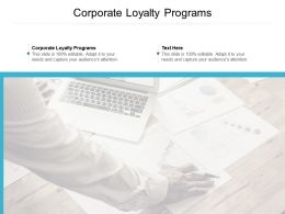 Corporate Loyalty Programs Ppt Powerpoint Presentation Layouts Guide Cpb