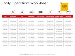 Corporate Management Daily Operations Worksheet Ppt Template