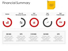 Corporate Management Financial Summary Ppt Themes