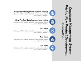 Corporate Management System Pricing New Product Development Innovation Cpb