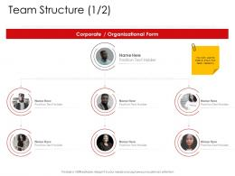 Corporate Management Team Structure Ppt Professional
