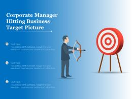 Corporate Manager Hitting Business Target Picture