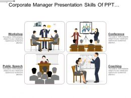 Corporate Manager Presentation Skills Of Ppt Slide